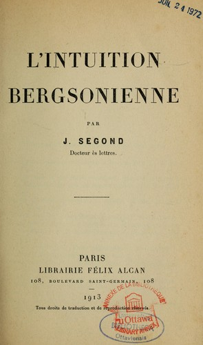 Download L' intuition bergsonienne