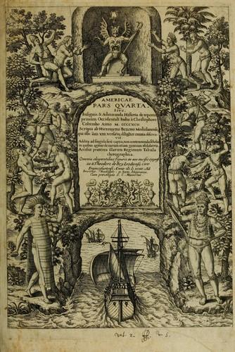 Download Americae pars quarta, sive, Insignis & admiranda historia de reperta primùm Occidentalis India à Christophoro Columbo anno M. CCCCXCII