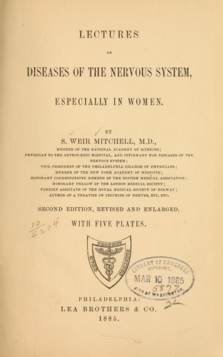 Download Lectures on diseases of the nervous system
