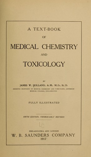 Download A text-book of medical chemistry and toxicology