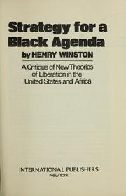 Strategy for a Black agenda PDF