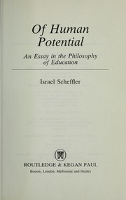 Of Human Potential by I. Scheffler
