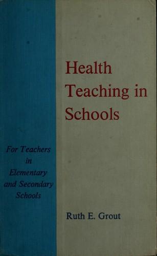 Download Health teaching in schools