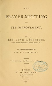 The prayer-meeting and its improvement PDF
