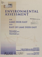 Environmental assessment for Lame Deer-east NH 37-2(16)42 control number 0874 and east of Lame Deer-easet, NH 37-2(17)49 control number A874 in Rosebud County, Montana PDF