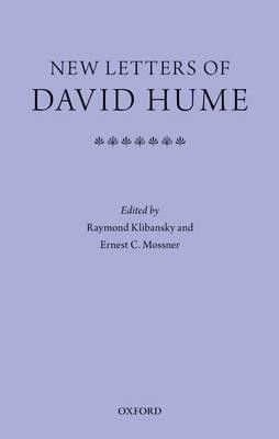 New letters of David Hume by Raymond Klibansky, Ernest Campbell Mossner