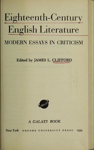 Download Eighteenth-century English literature