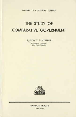 Download The study of comparative government