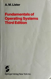 Fundamentals of operating systems by A. Lister