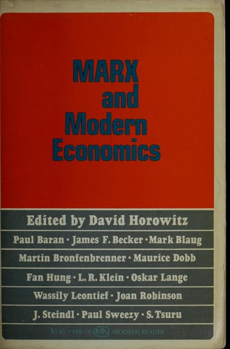 Download Marx and modern economics.