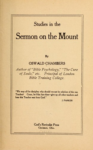 Download Studies in the Sermon on the Mount