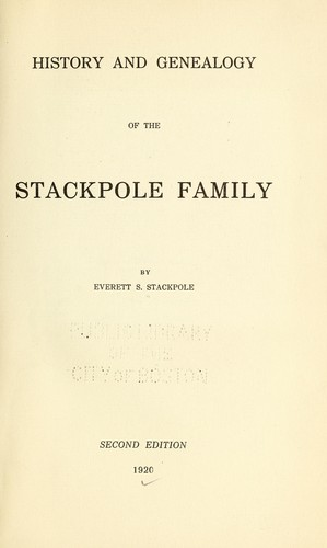 History and genealogy of the Stackpole family