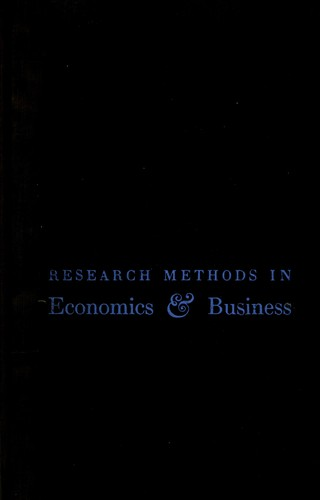 Research methods in economics & business