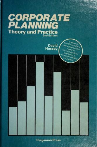 Corporate planning theory and practice