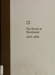 The world of Rembrandt, 1606-1669 by Wallace, Robert