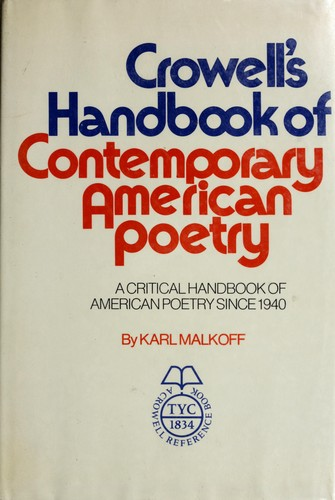 Download Crowell's handbook of contemporary American poetry.