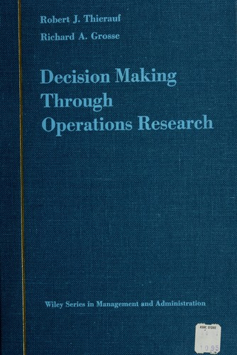 Download Decision making through operations research