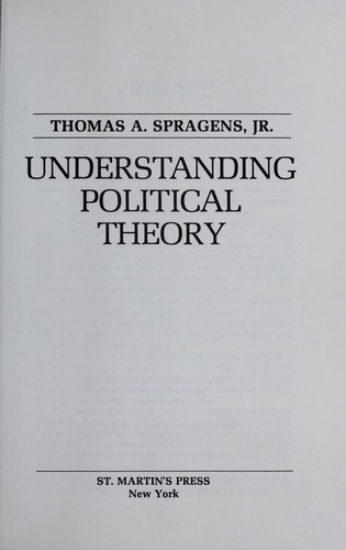 Understanding political theory by Thomas A. Spragens
