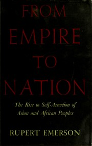 From empire to nation by Rupert Emerson