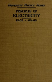 Principles of electricity by Page, Leigh