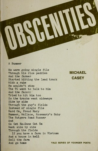 Obscenities (Yale Series of Younger Poets)