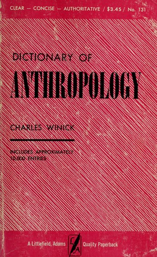 Download Dictionary of anthropology.