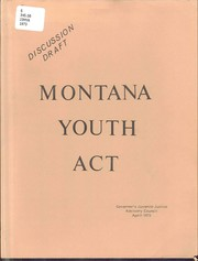 Montana youth act, discussion draft PDF