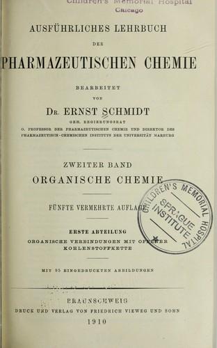 Download Ausführliches lehrbuch der pharmazeutischen chemie
