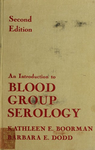 Download An introduction to blood group serology
