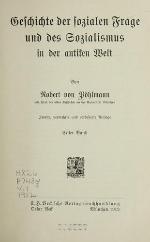 Download Geschichte der sozialen Frage und des Sozialismus in der antiken Welt