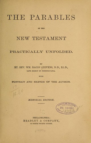 The parables of the New Testament practically unfolded.