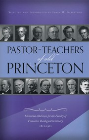 Cover of: Pastor-Teachers of Old Princeton by