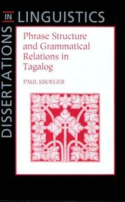 Phrase Structure and Grammatical Relations in Tagalog PDF