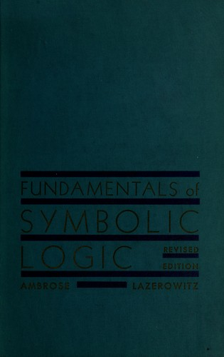 Download Fundamentals of symbolic logic