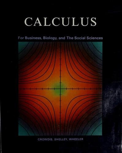 Calculus for business, biology, and the social sciences
