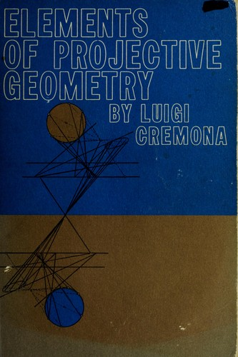Elements of projective geometry.