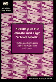 Reading at the middle and high school levels by Wilson, Elizabeth A.