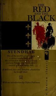 Cover of: The red and the black by Stendhal
