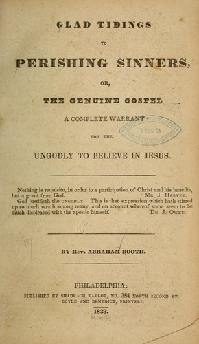 Download Glad tidings to perishing sinners