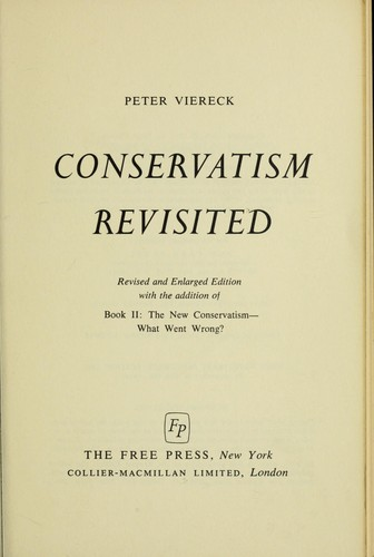 Conservatism revisited.