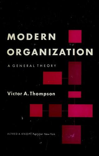 Modern organization. —