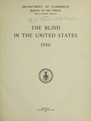 The blind in the United States, 1910 PDF