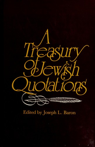 Download A Treasury of Jewish Quotations