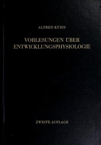 Download Vorlesungen über Entwicklungsphysiologie.