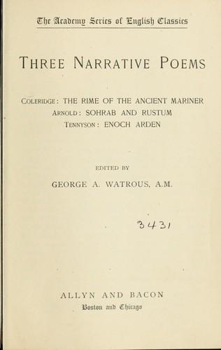 Three narrative poems.