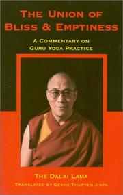 The union of bliss and emptiness by 14th Dalai Lama