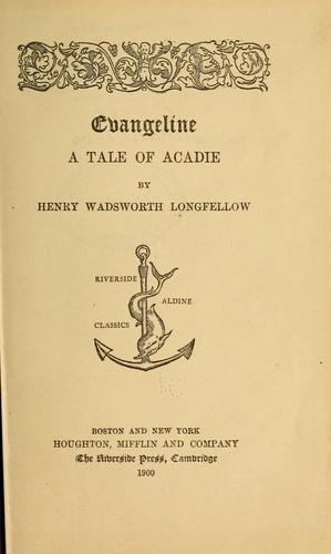 Download Evangeline; a tale of Acadie