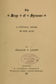The siege of Syracuse by William Augustine Leahy