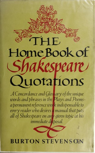 Download The home book of Shakespeare quotations