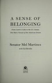 A Sense of Belonging PDF